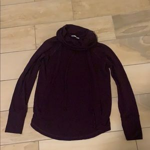 Maroon Cowl Neck Pullover